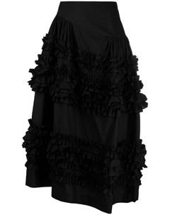 Поплиновая юбка Otis со сборками Molly goddard