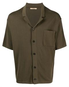 Трикотажная рубашка с распашным воротником Nuur