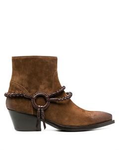 Ковбойские ботинки с плетеным ремешком Sartore