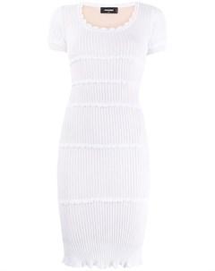 Приталенное платье в рубчик Dsquared2