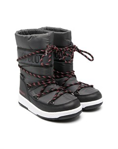 Зимние сапоги с полосатыми шнурками Moon boot kids