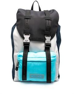 Рюкзак в стиле колор блок с пряжками Moschino