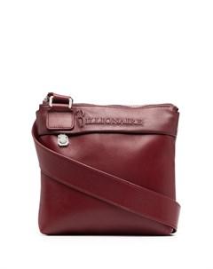 Маленькая сумка через плечо с тисненым логотипом Billionaire