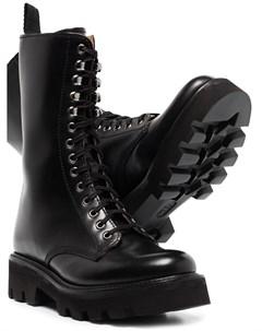 Высокие ботинки в стиле милитари Grenson