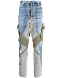 Зауженные джинсы со вставками Greg lauren