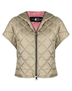 Стеганая куртка с капюшоном и короткими рукавами Luisa cerano