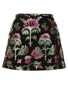 Жаккардовая юбка Juniper с цветочным принтом Cynthia rowley