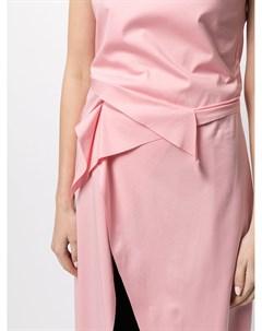 Платье асимметричного кроя с разрезом Sulvam
