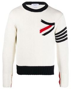 Пуловер с круглым вырезом и декоративной строчкой Thom browne