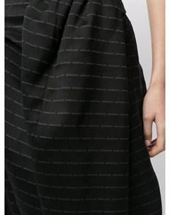 Жаккардовая юбка с драпировкой и логотипом Sankuanz