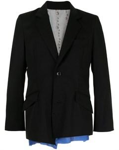 Пиджак с контрастными вставками Sulvam