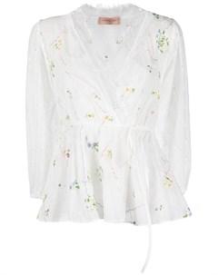 Блузка с кружевом Ermanno ermanno