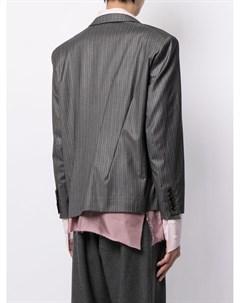 Полосатый пиджак свободного кроя Sulvam