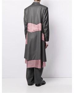 Однобортное пальто со вставками Sulvam