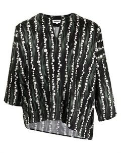 Рубашка асимметричного кроя с принтом Sulvam