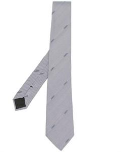 Полосатый галстук с вышитым логотипом Moschino