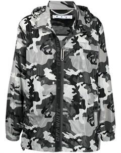 Камуфляжная куртка с логотипом Off-white