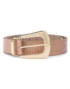 Ремень с тиснением под кожу крокодила B-low the belt