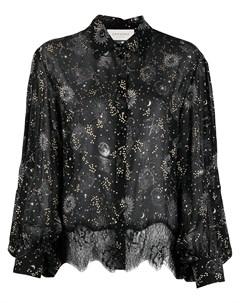 Прозрачная рубашка с принтом Ermanno ermanno