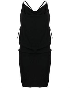 Платье с воротником хомутом и вставками Dsquared2