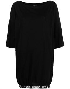 Платье футболка длины макси с логотипом Dsquared2