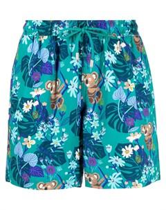 Плавки шорты с кулиской и принтом Bluemint