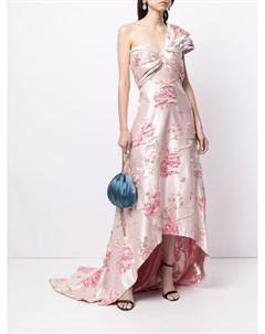 Жаккардовое платье на одно плечо Tadashi shoji