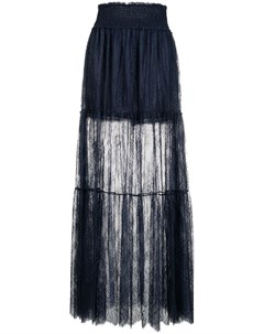 Платье миди из цветочного кружева Ermanno ermanno