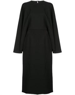 Платье миди в стилистике кейпа Sara battaglia