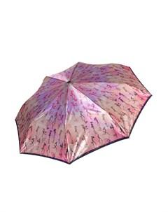 Складной зонт автомат с принтом Люди Fabretti