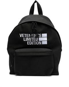 Рюкзак с вышитым логотипом Vetements