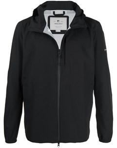 Куртка на молнии с нашивкой логотипом Woolrich