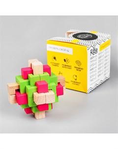 Головоломка деревянная сборная разноцветная 7 5х7 5х7 5 см Puzzle