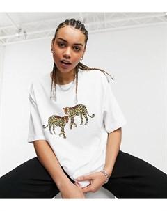 Oversized футболка с принтом леопардов Big Boy Native youth