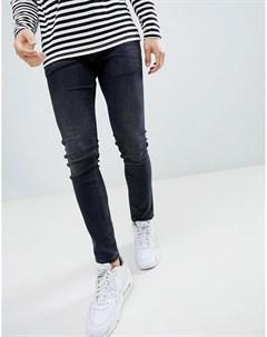Черные выбеленные джинсы скинни River island