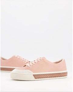Светло розовые кожаные кроссовки на шнуровке Finley Fiorelli