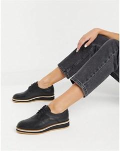 Черные кожаные туфли на шнуровке Franca Fiorelli