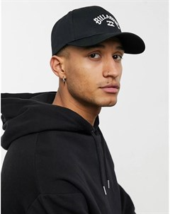 Черная кепка с ремешком застежкой сзади и дугообразным логотипом Billabong