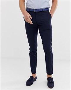 Темно синие строгие брюки скинни River island