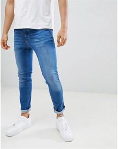 Синие джинсы скинни River island