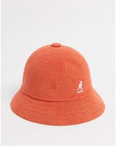 Оранжевая панама Kangol