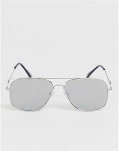 Солнцезащитные очки авиаторы с зеркальными стеклами River island