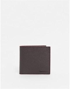 Темно коричневый бумажник из зернистой кожи Barbour