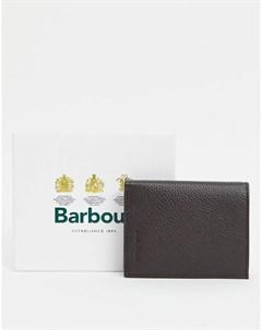 Маленький кожаный бумажник темно коричневого цвета Amble Barbour