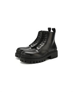 Кожаные ботинки Strike Balenciaga