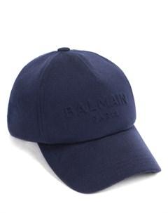 Бейсболка шерстяная с логотипом Balmain
