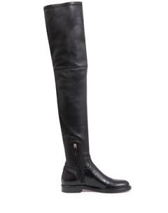 Ботфорты кожаные Shadow Valentino