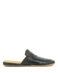 Тапочки из кожи крокодила Tardini