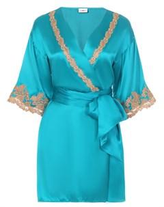 Халат шелковый с шитьем La perla