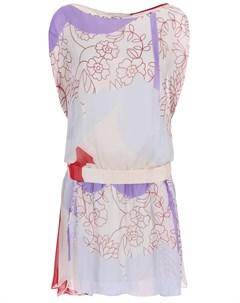 Платье шелковое с принтом Diane von furstenberg